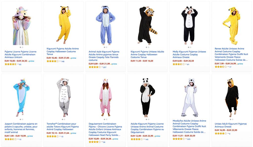 avis prix pyjama combinaison