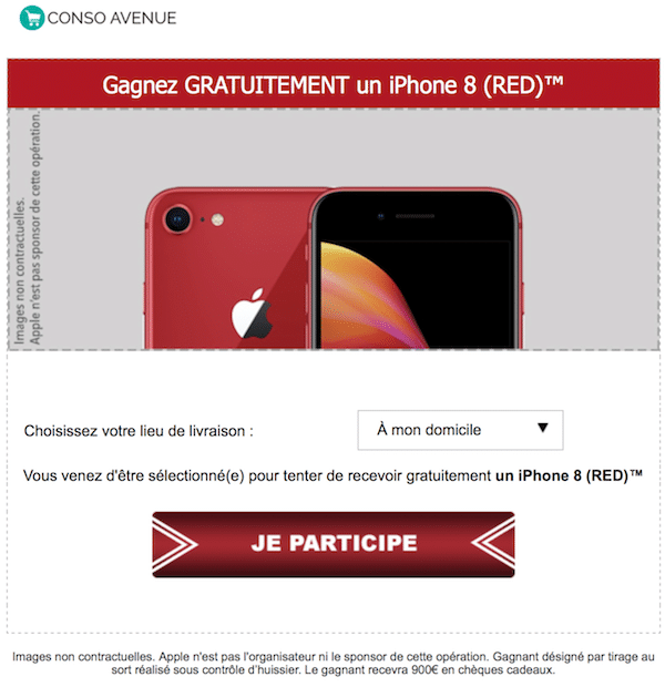gagner iphone 8 red