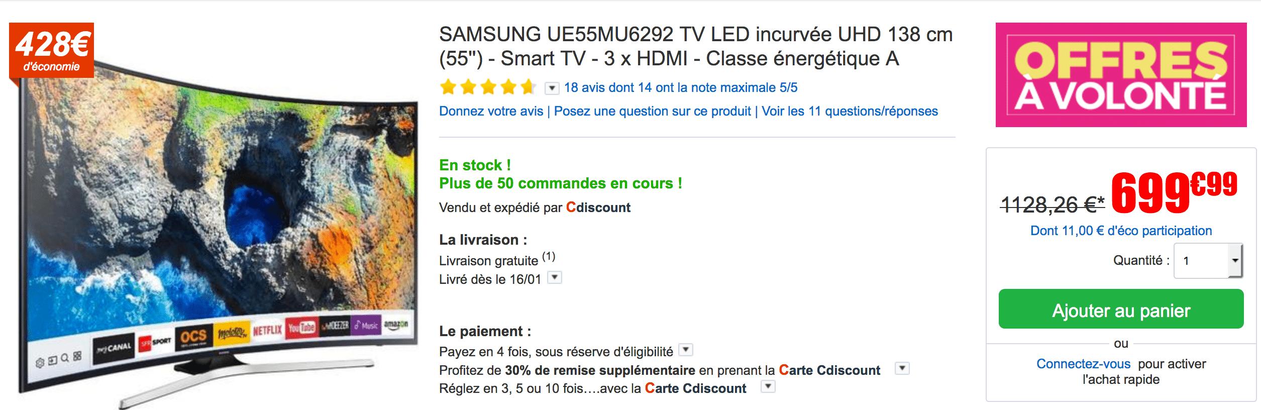 solde tv samsung led