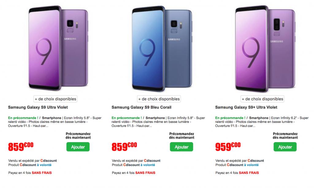acheter samsung galaxy s9