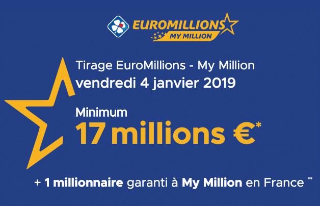 tirage euromillion 4 janvier 2019