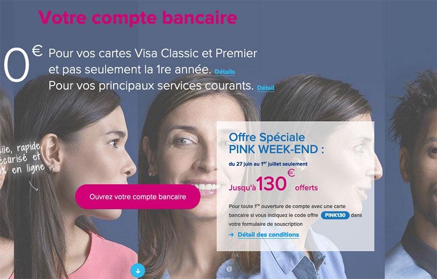 code promo banque en ligne