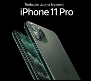 jeu concours iphone 11 pro