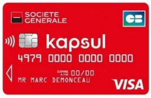 La carte Visa Kapsul