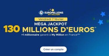 Mega jackpot Euromillions de 130 millions