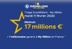 résultats Tirage Euromillions - My Million Mardi 11 février 2020
