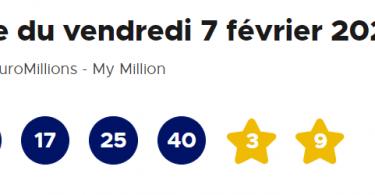 resultat euromillion 7 février 2020