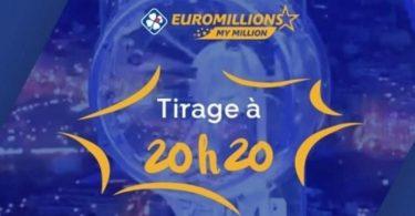 À quelle heure sont diffusés les résultats de L'Euromillions My million