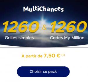 Quid des Pack Multichances EuroMillions de 1260 grilles?