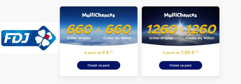 Comment jouer aux Packs MultiChances (Euromillions)