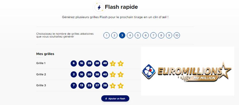 Euromillions Augmenter vos chances avec Flash rapide