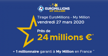 Tirage FDJ Euromillions vendredi 27 mars 2020