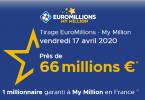 Le secret pour gagner à l'Euromillions – My million du vendredi 17 avril 2020 (66 millions €)