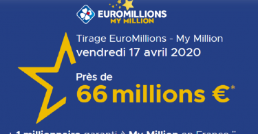 Le secret pour gagner à l'Euromillions – My million du vendredi 17 avril 2020 (66 millions €)