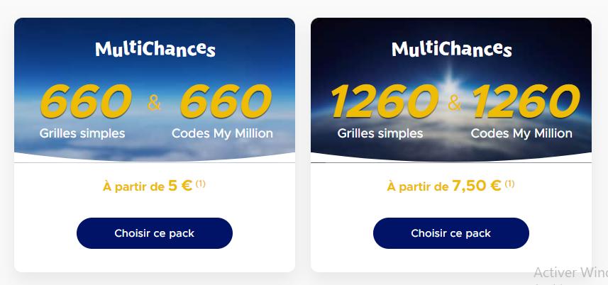 Jouer à Euromillions de ce Mardi 21 avril 2020 en utilisant les Packs Multi Chances