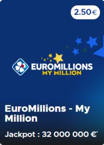 Le délai pour valider la grille Euromillions My Million du 28 avril 2020