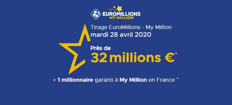 Le point sur le tirage Euromillions - My de ce Mardi 28 avril 2020