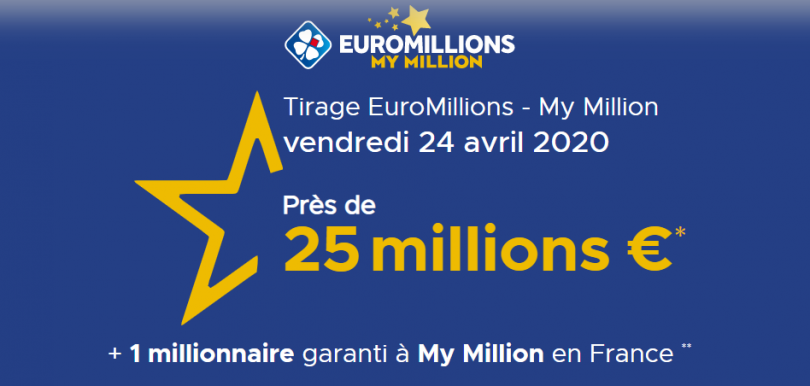 Tirage Euromillions vendredi 24 avril 2020
