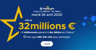 Un jackpot de 32 millions pour l'Euromillions du mardi 28 avril 2020
