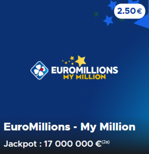 Le jackpot du tirage Euromillions du Mardi 19 mai 2020 est de 17 000 000 €