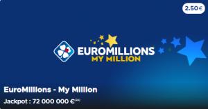 Jackpot 72 millions 2020