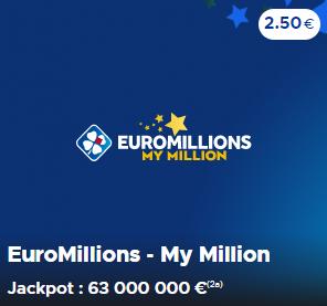 Jouer à EuroMillions et My Million du mardi 12 mai 2020 en ligne