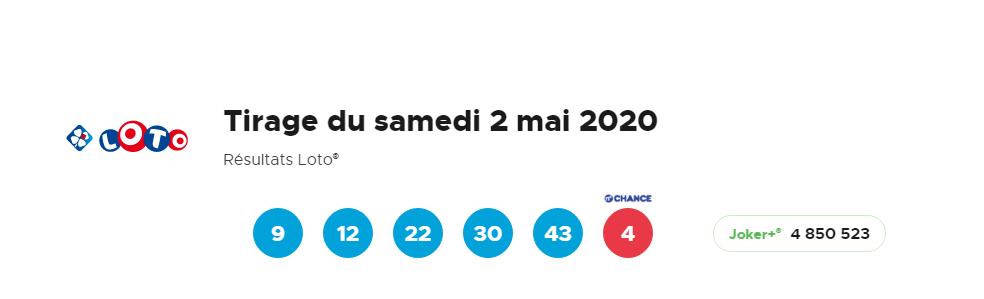 Loto 2 mai 2020