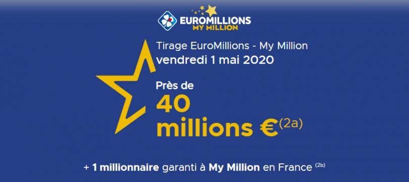 Nos conseils pour jouer à EuroMillions du vendredi 1 Mai 2020 (40 millions d'euros)