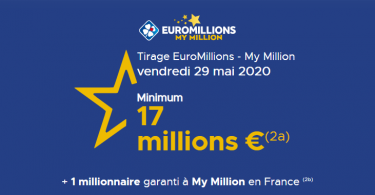 Tirage Euromillions Vendredi 29 mai 2020