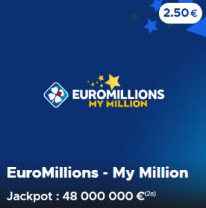Euromillions - My Million du Mardi 5 Mai 2020 : Jouer en ligne (48 millions d'euros)