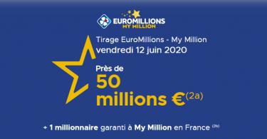 Comment jouer à l'Euromillions du vendredi 12 juin 2020 (Lot de 50 millions d'euros)