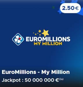 Euromillions et My Million