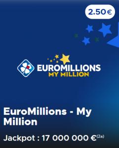 Jouer à l'Euromillions du mardi 16 juin 2020 (Jackpot 17 000 000 €)