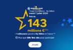 Le Mega Jackpot Euromillions du mardi 7 Juillet 2020 143 millions à gagner !