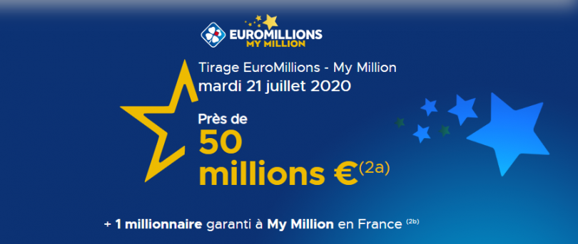 Suivez le tirage Euromillions du mardi 21 juillet 2020 (cagnotte 50 millions d'euros)