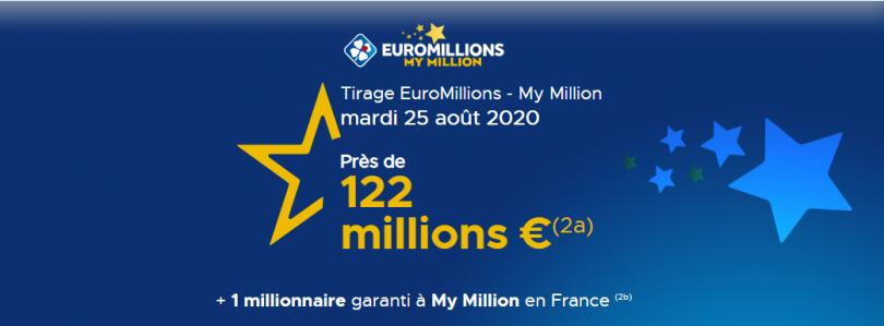 Tirage Euromillions 25 Août 2020