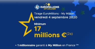 Euromillions 4 septembre 2020