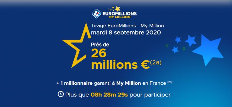 Euromillions 8 septembre 2020