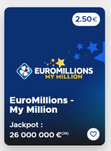 Jouer au tirage Euromillions du Mardi 08 Septembre 2020 (Jackpot 26 000 000 €)