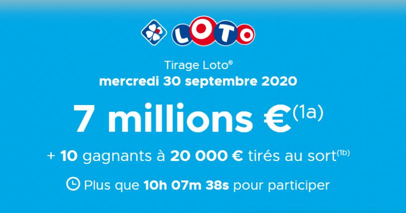Loto (FDJ) Présentation du tirage du Mercredi 30 Septembre 2020