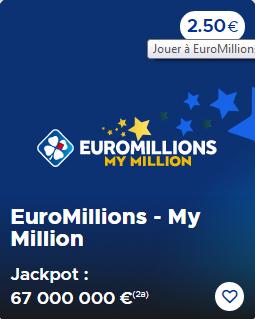 Suivez le résultat Euromillion et My Million du Vendredi 18 Septembre 2020 (Cagnotte 67 000 000 €)