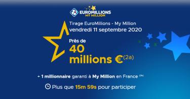 Euromillions (FDJ) : résultat du vendredi 11 Septembre en ligne (40 millions d'euros)