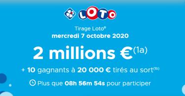 Augmentez vos chances de gagner au tirage du Mercredi 07 Octobre 2020 ( 2 000 000 €)