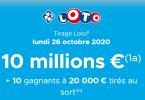 Croyances au Loto + tirage Loto du Lundi 26 Octobre 2020