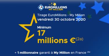 Euromillions Vendredi 30 octobre 2020