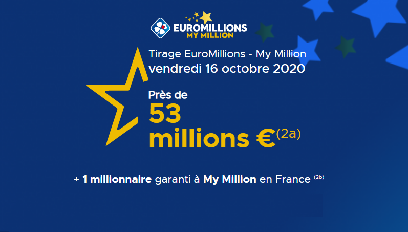 Euromillions vendredi 16 octobre 2020