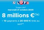 Loto : informations sur le tirage du Mercredi 21 Octobre 2020