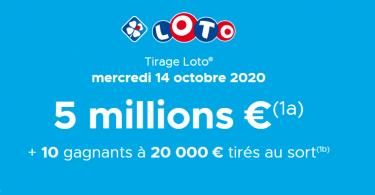 Loto - Tirage du mercredi 14 octobre 2020