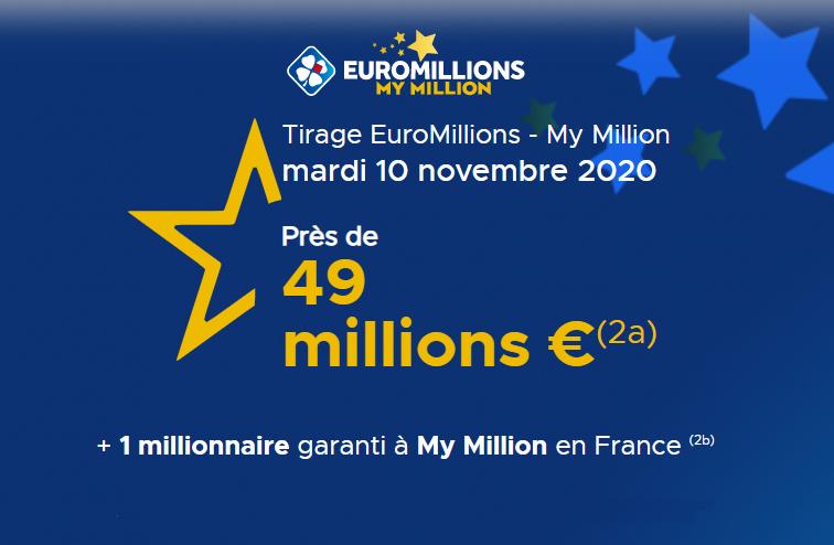 EUROMILLIONS Mardi 10 novembre 2020
