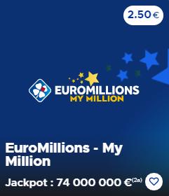 Euromillions Mardi 17 novembre 2020